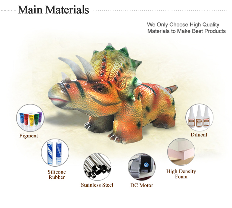 1.dinosaur electric car main materials