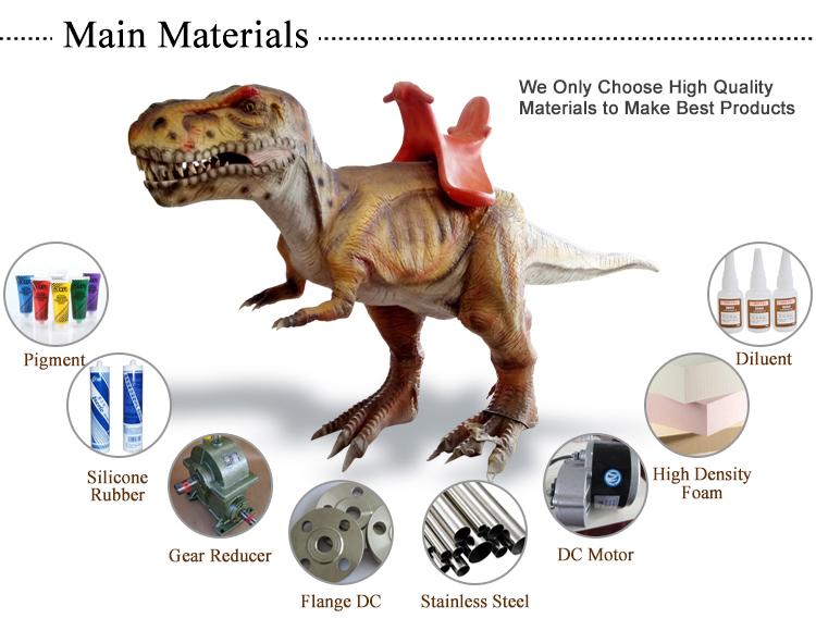 1.dinosaur ride Main material